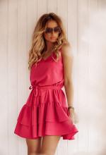 Sukienki z falbanami na upalne dni