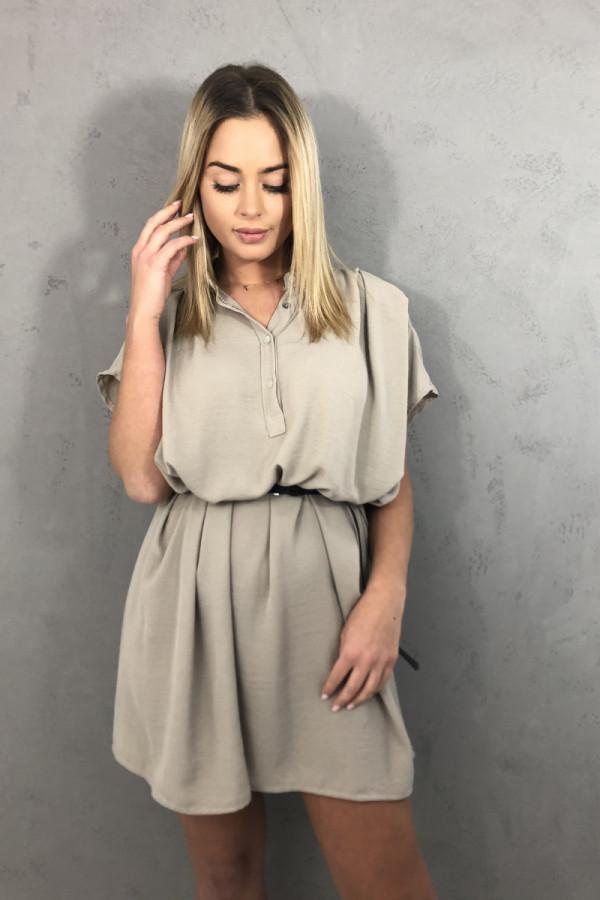 Sukienka Greta Beżowa 1