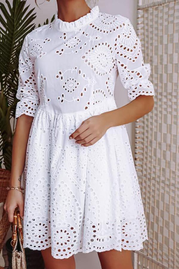 Ażurowa sukienka biała II wysyłka po 22.04