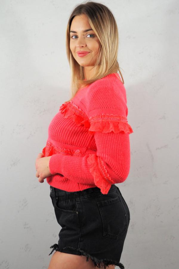 Sweter Verona Czerwony