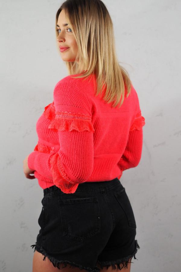 Sweter Verona Czerwony 2