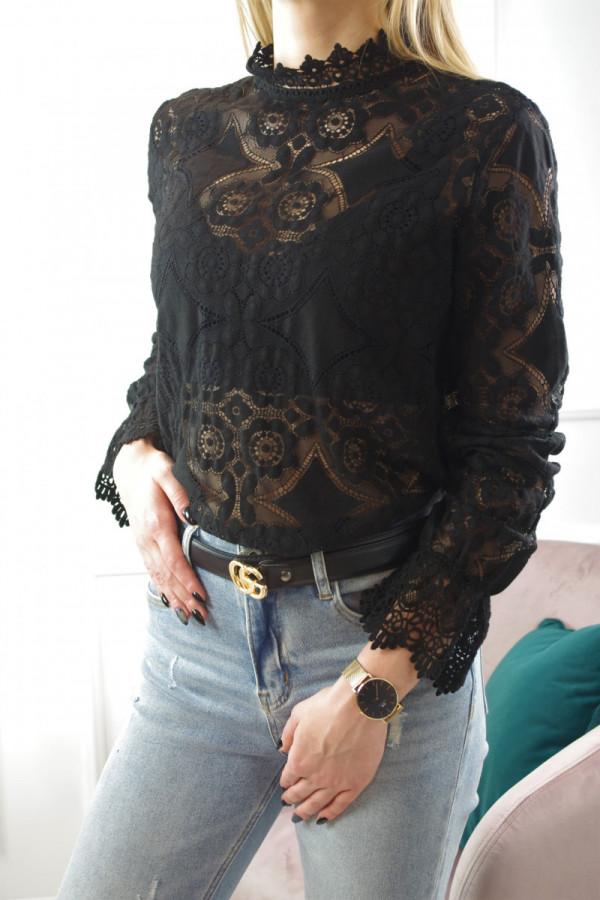 Bluzka czarna w wzorki Clara