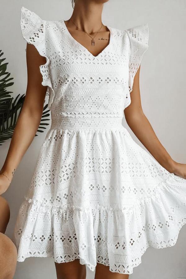sukienka biała ażurowa adel 1
