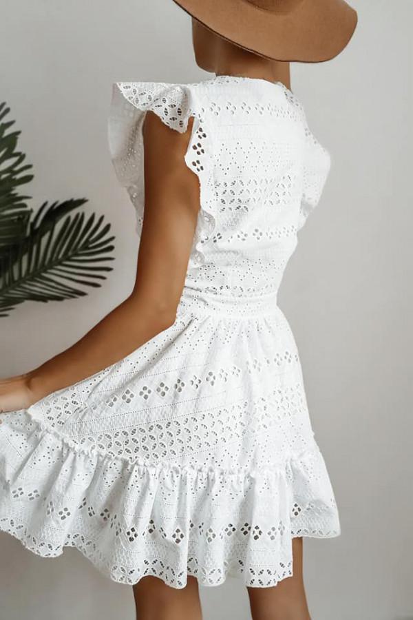 sukienka biała ażurowa adel 2