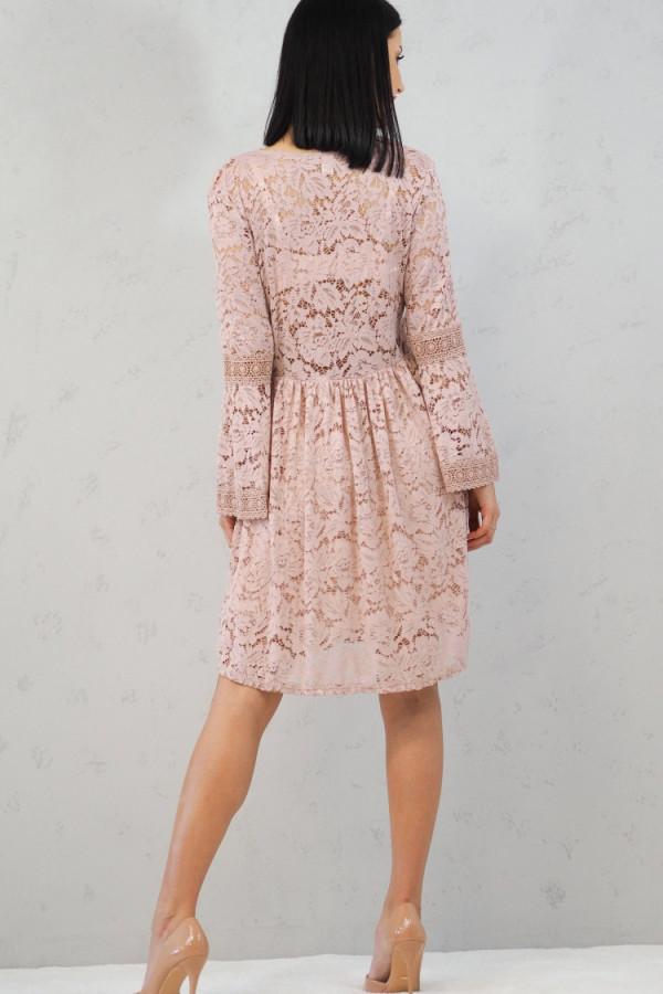sukienka różowa koronka 2