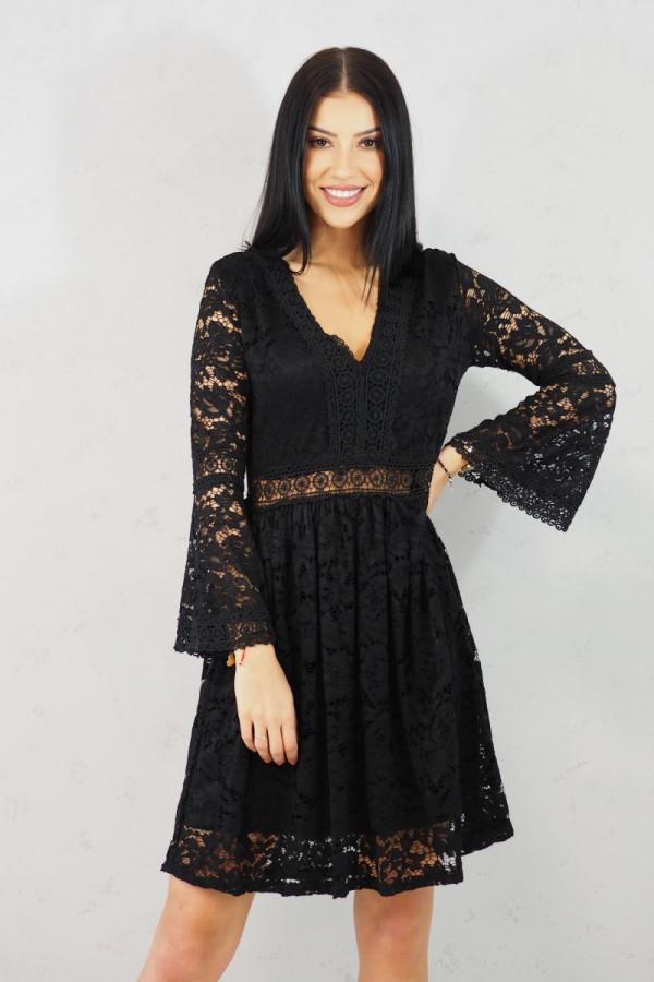sukienka czarna koronkowa luka 1