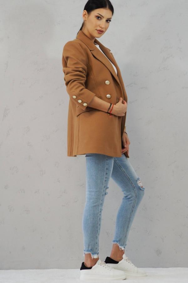 Płaszcz brązowy z guzikami Suzanne 2
