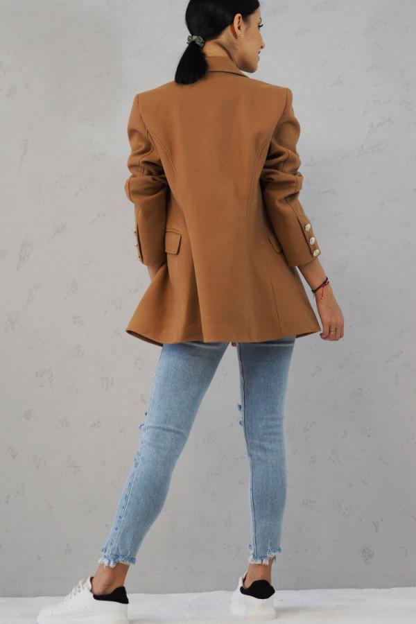 Płaszcz brązowy z guzikami Suzanne 3