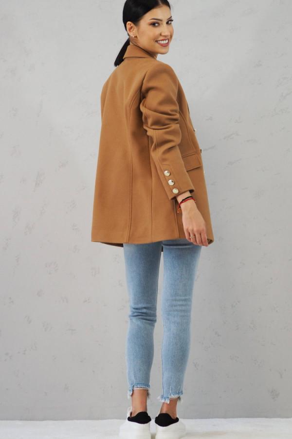 Płaszcz brązowy z guzikami Suzanne 4