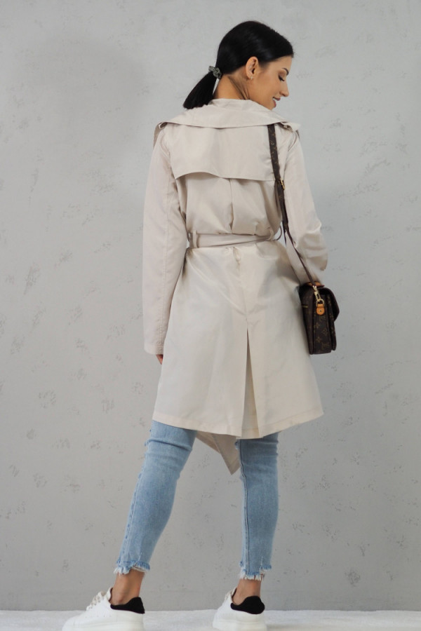 Płaszcz Noelle Ecru 4