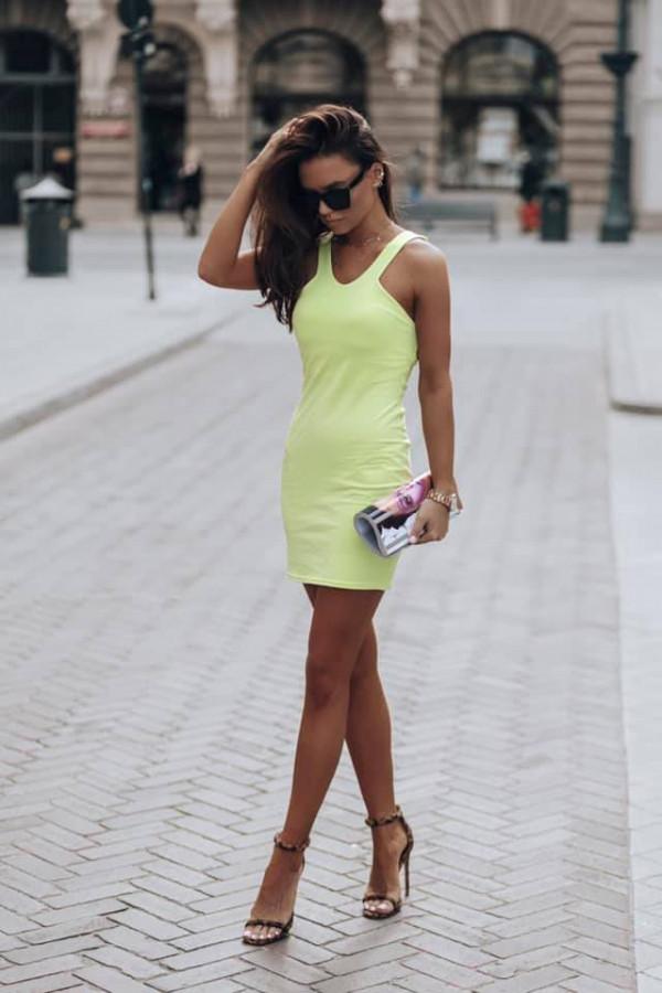sukienka gina zielona