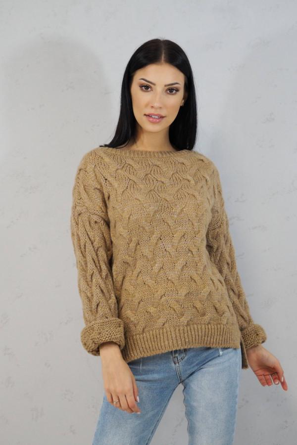 Sweter brązowy Debora 1