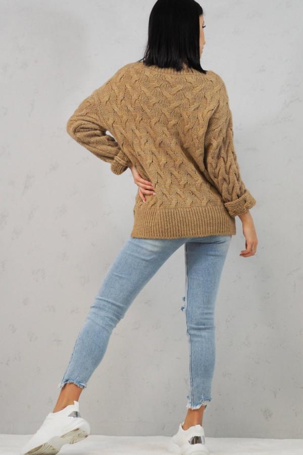 Sweter brązowy Debora 5