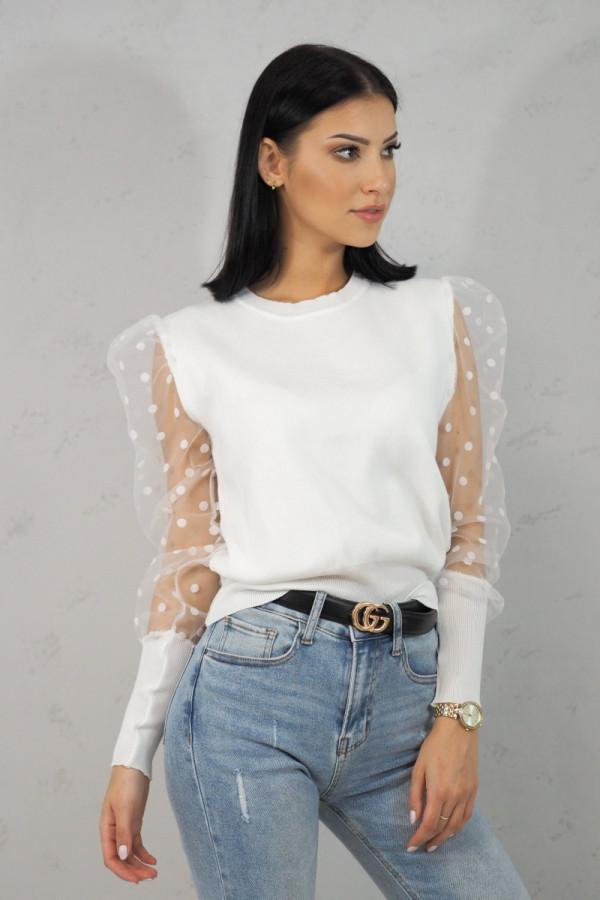 Bluzka biała z kropkami Alice 1
