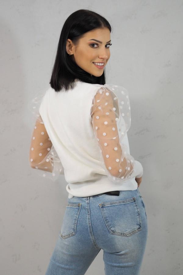 Bluzka biała z kropkami Alice 2