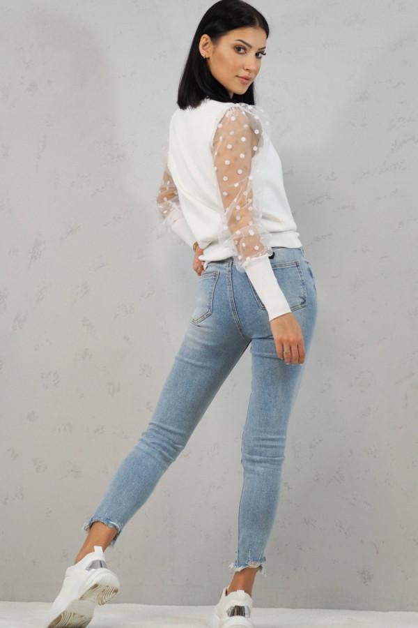 Bluzka biała z kropkami Alice 3