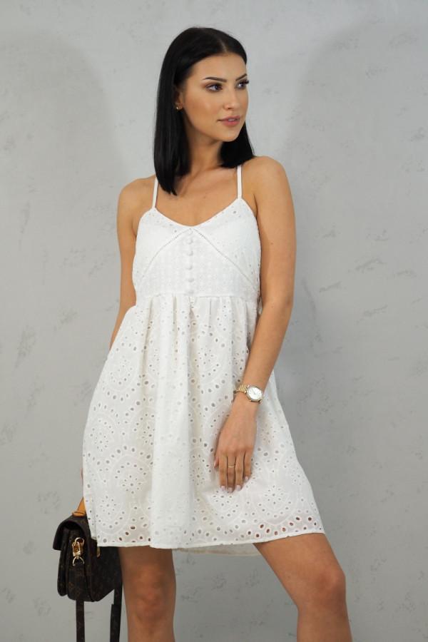 Sukienka Isabel Biała z Koronki 1