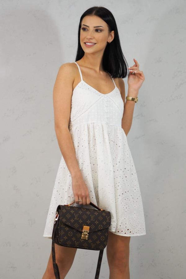 Sukienka Isabel Biała z Koronki
