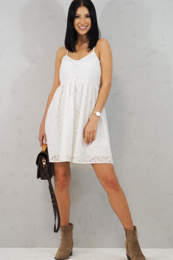 Sukienka Isabel Biała z Koronki 3