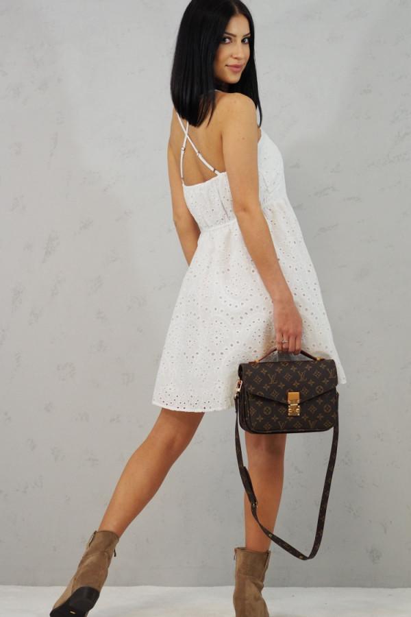 Sukienka Isabel Biała z Koronki 4