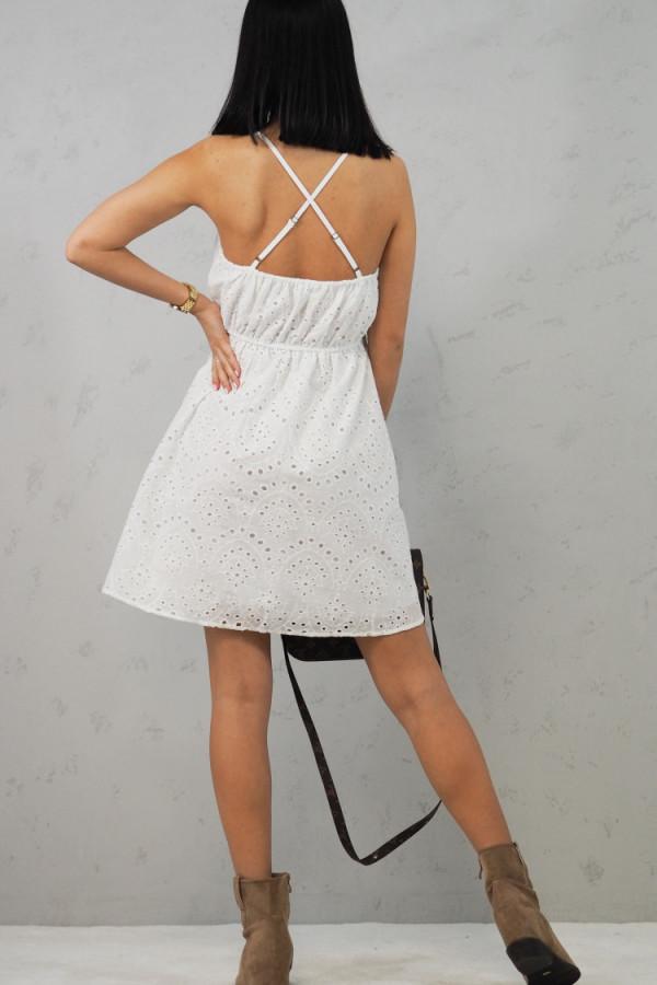 Sukienka Isabel Biała z Koronki 5