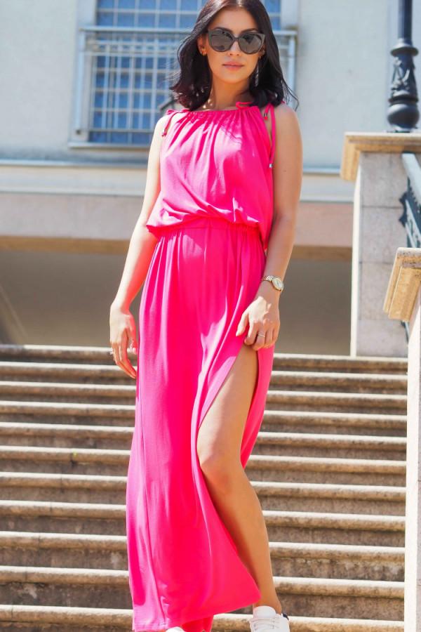 Sukienka wieczorowa różowa 2