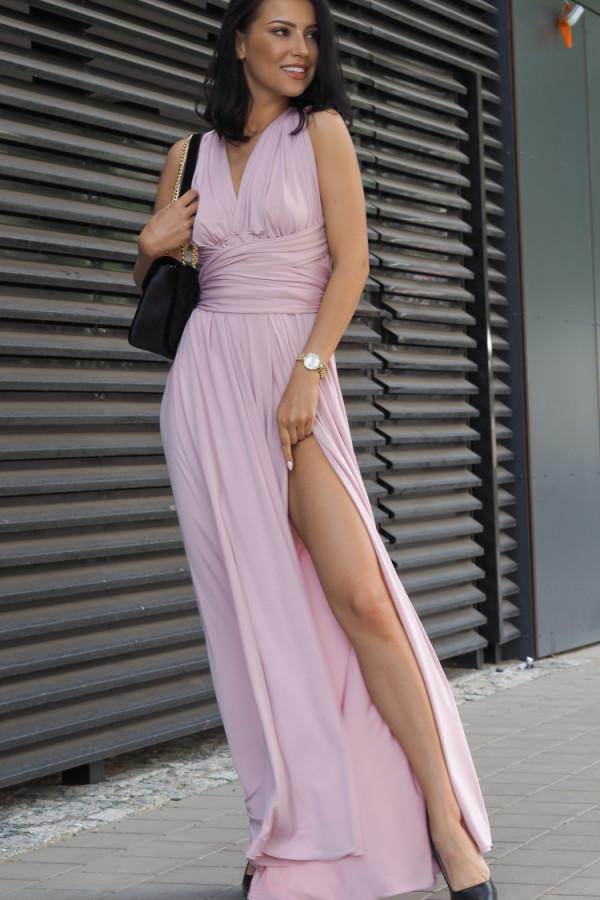 Długa świecąca sukienka wieczorowa 1