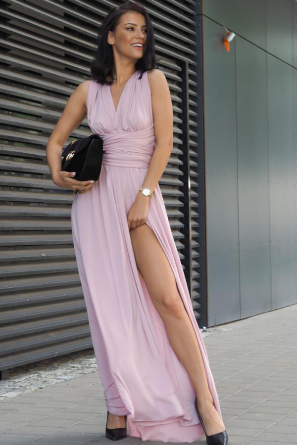 Długa świecąca sukienka wieczorowa 2