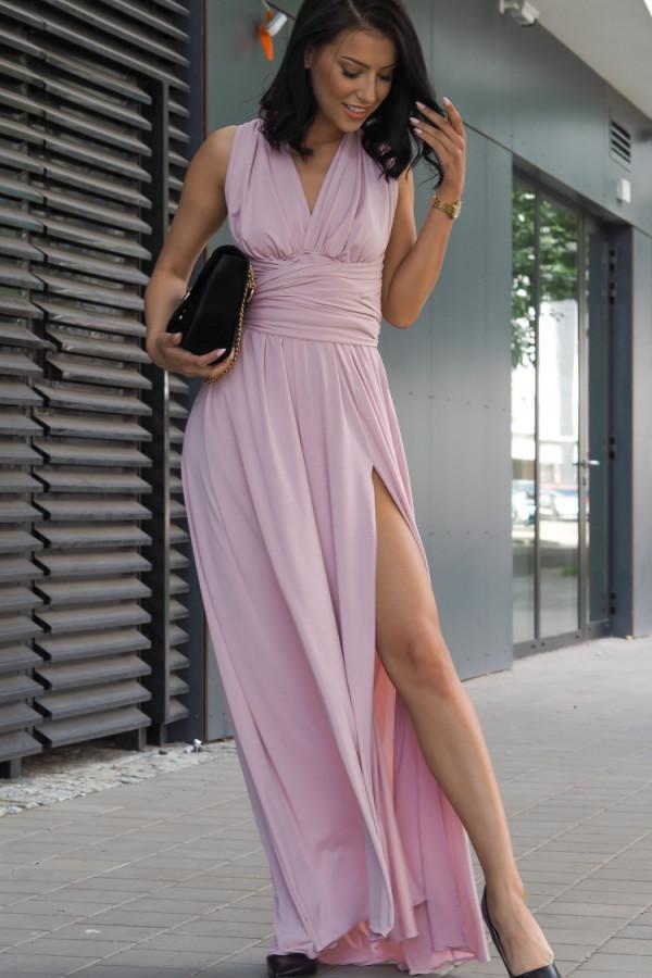 Długa świecąca sukienka wieczorowa 3