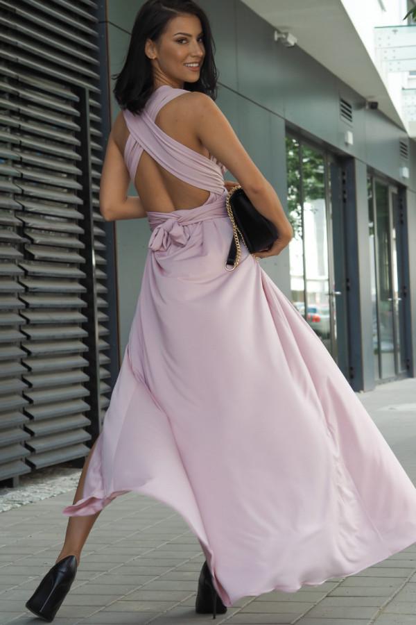 Długa świecąca sukienka wieczorowa 4