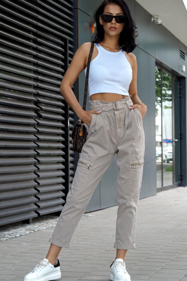 Spodnie Ophelie Brązowe 1
