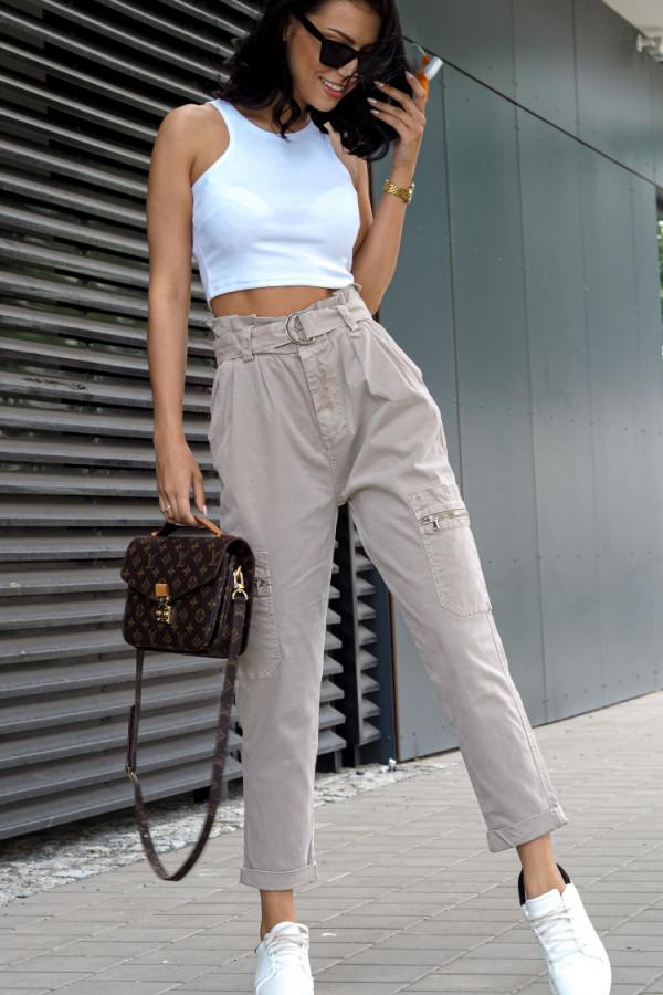Spodnie Ophelie Brązowe 2