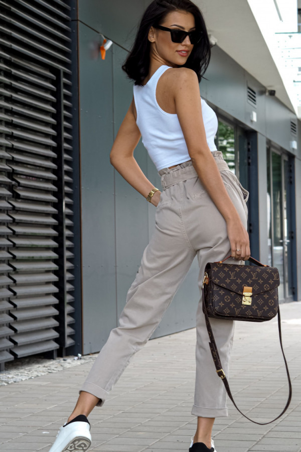 Spodnie Ophelie Brązowe 4