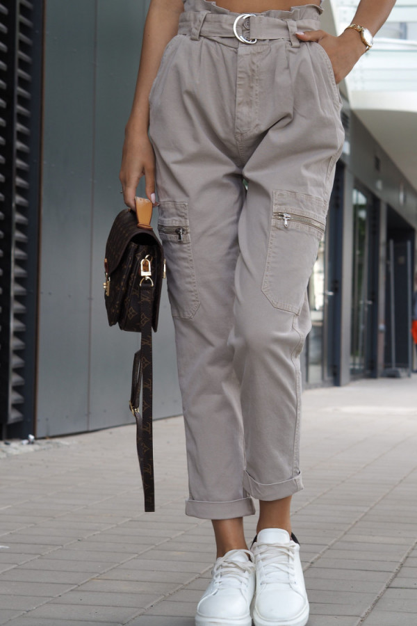 Spodnie Ophelie Brązowe 5