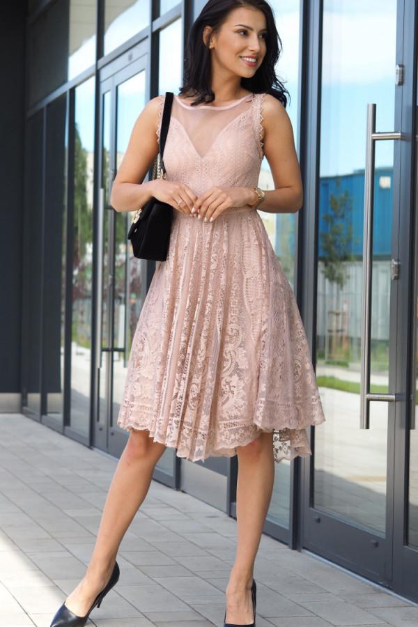 Sukienka beżowa Lous