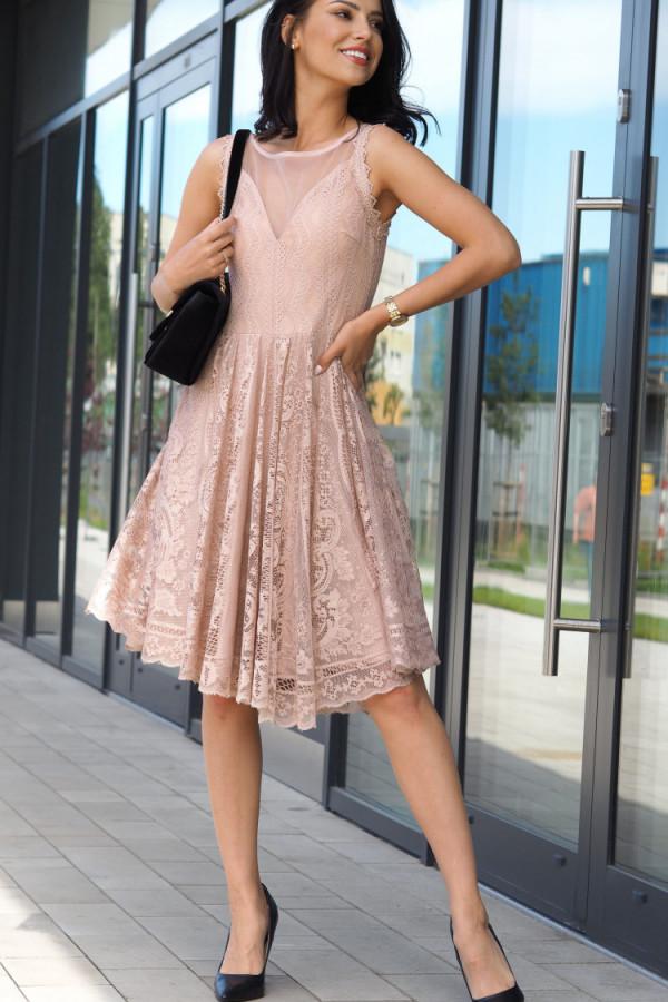 Sukienka beżowa Lous 1