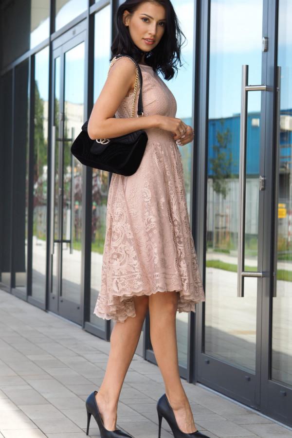 Sukienka beżowa Lous 2