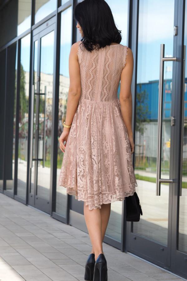 Sukienka beżowa Lous 3