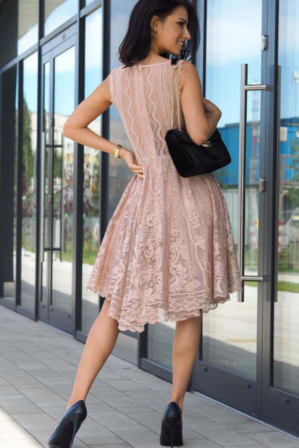 Sukienka beżowa Lous 4
