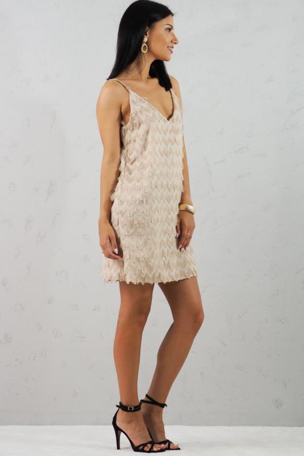 Sukienka beżowa Sori