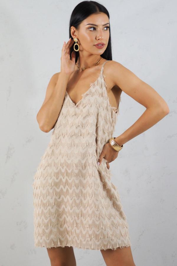 Sukienka beżowa Sori 2