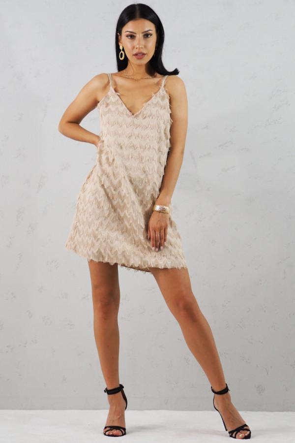 Sukienka beżowa Sori 4