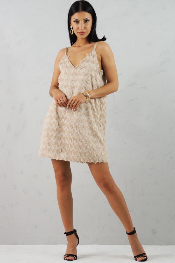 Sukienka beżowa Sori 5