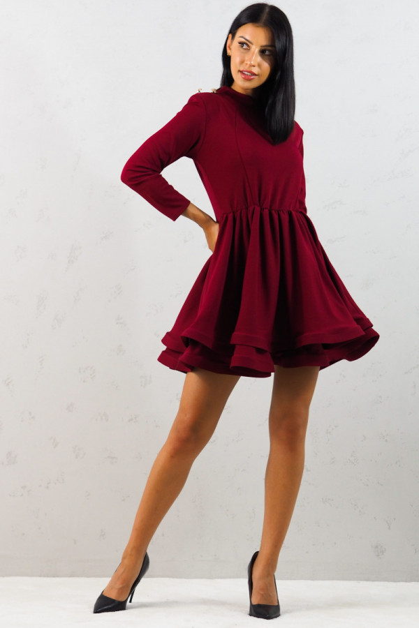 Sukienka bordowa Adela