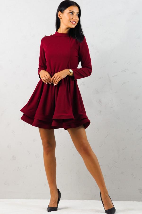 Sukienka bordowa Adela 1