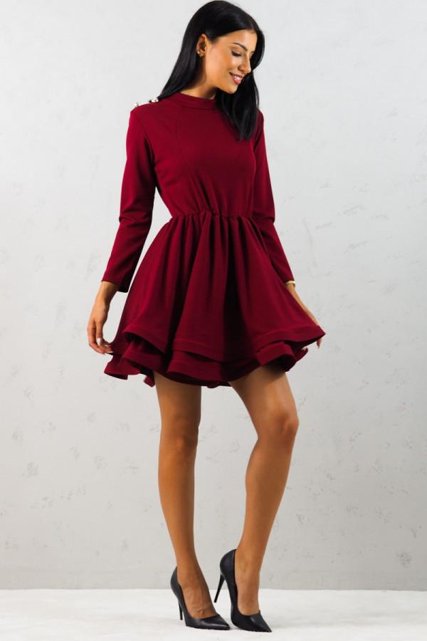 Sukienka bordowa Adela 2