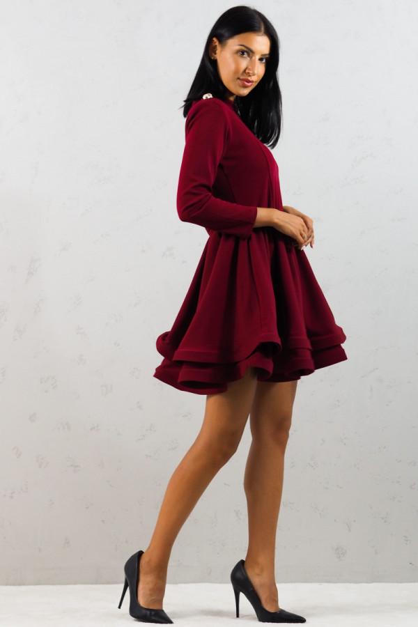 Sukienka bordowa Adela 3