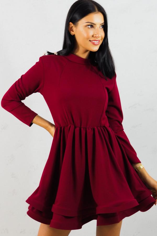 Sukienka bordowa Adela 6