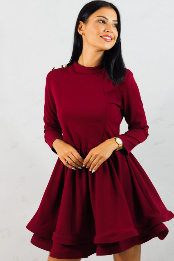 Sukienka bordowa Adela 7