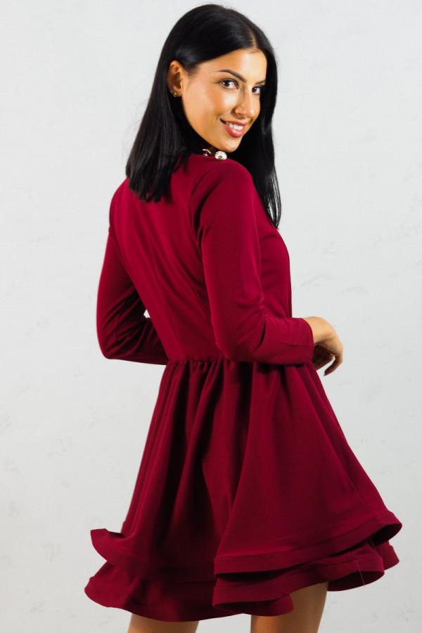 Sukienka bordowa Adela 8